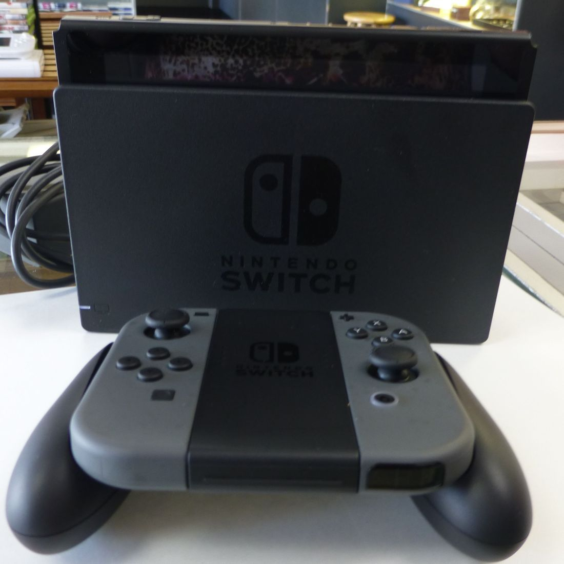 Black Nintendo Switch Console Joy-Cons And Dock