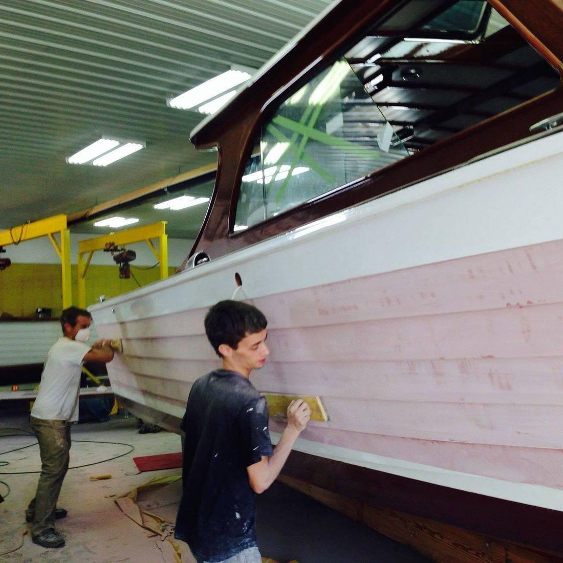 Lyman restoration by Bergersen Boat