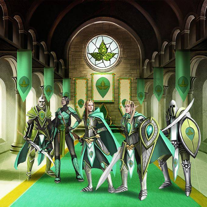 Green faction throne room