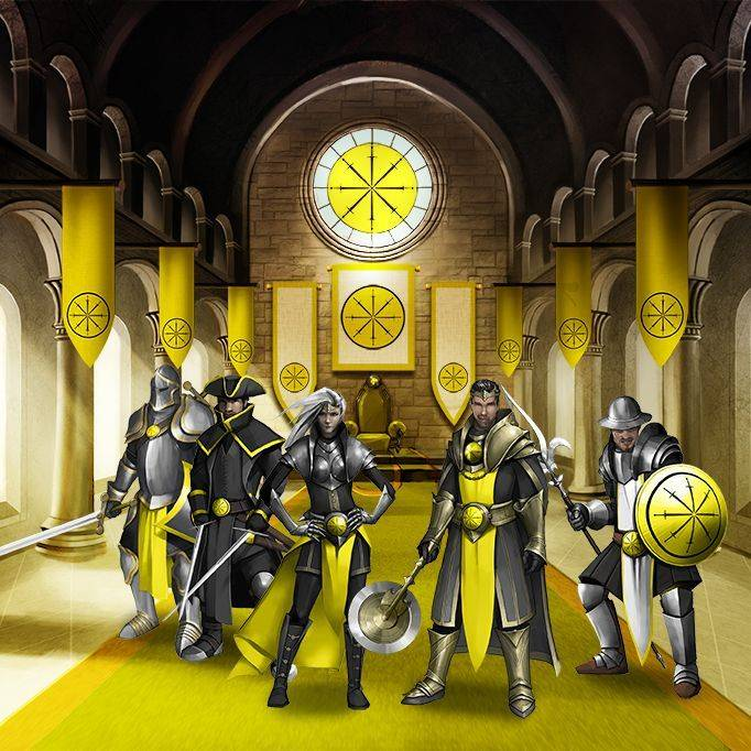 Yellow faction throne room