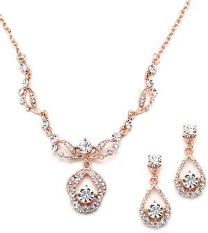 Bridal or Quince necklace and earring set