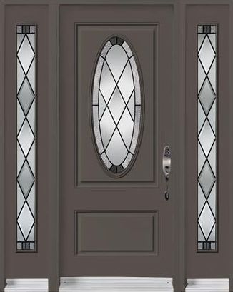 Door Sidelite Classic Glass Oval Painted
