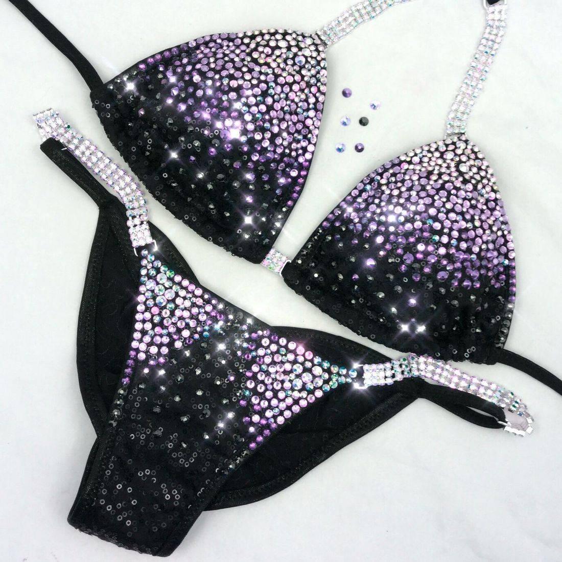 Black competition bikini