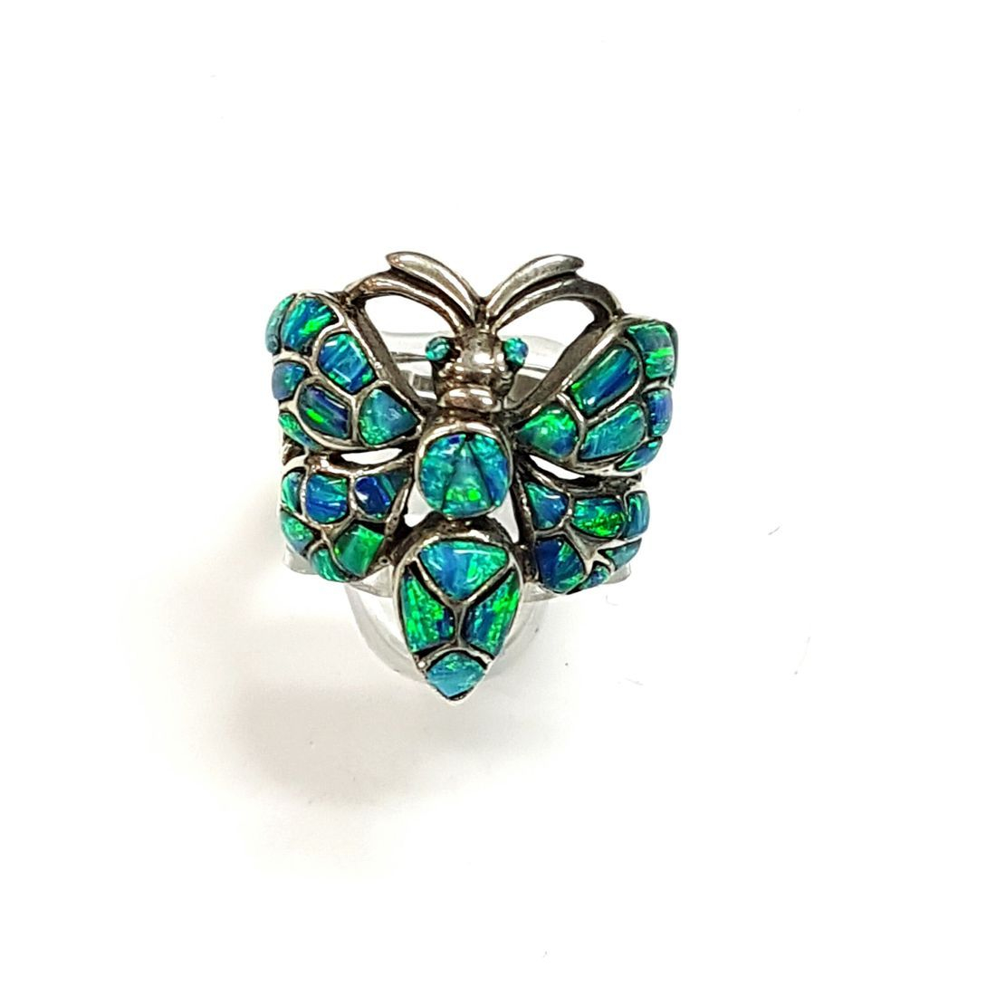Blue Opal Butterfly Ring  available at Kazbah online and our Leicester City Centre shop