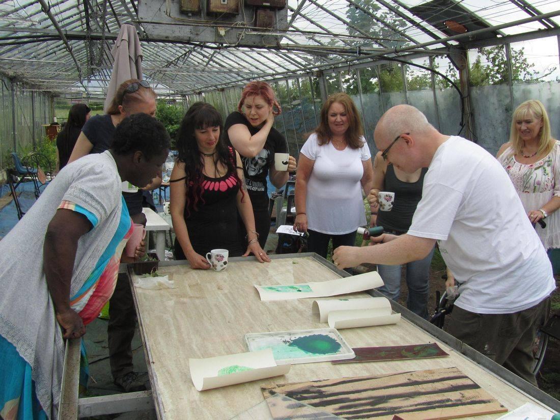 team greenhouse permaculture community meeting volunteer donate