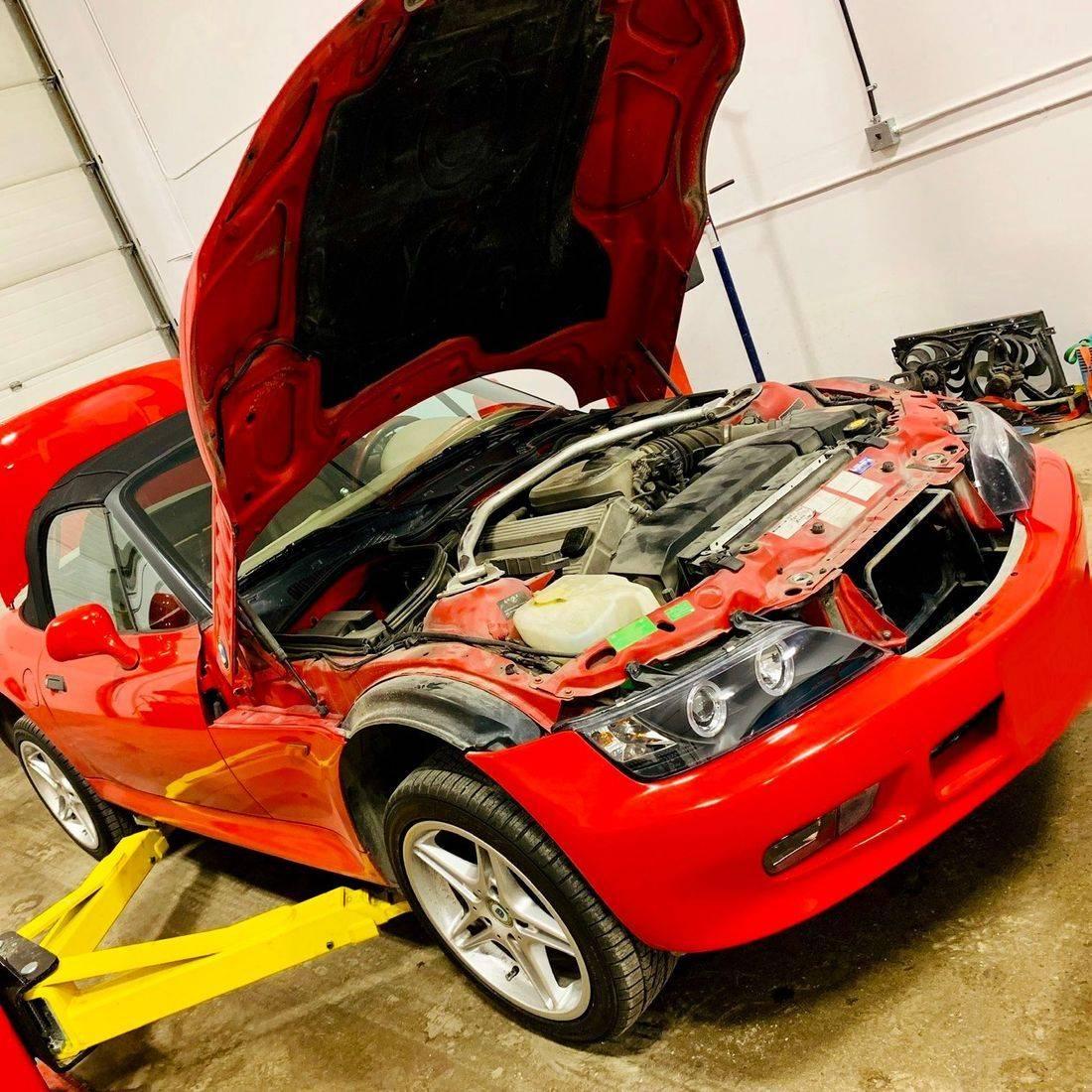 BMW Z3 on the Hoist