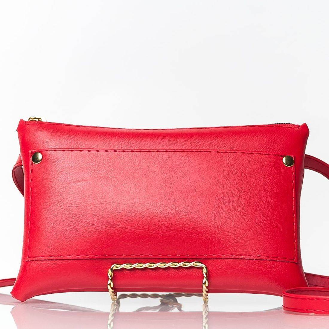 High Quality Vegan Leather Red Fanny Pack