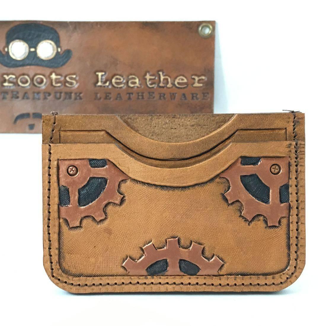 Double Slot Wallet Steampunk Small Gears