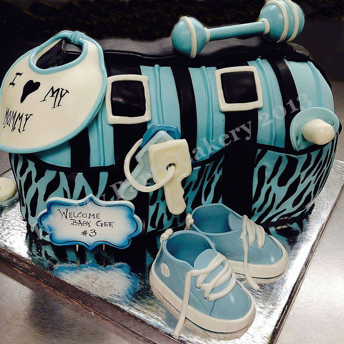 Diaper Bag Carved Dimensional Cake Milwaukee