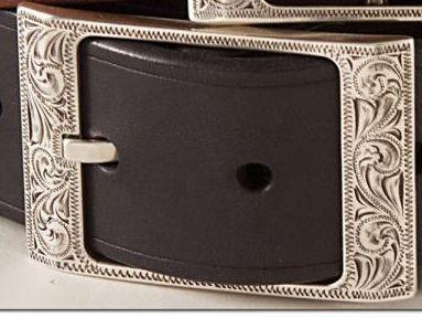 Laramie engraved buckle  , western buckle , belt buckle , silver buckles , tooled buckles