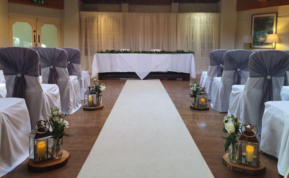 Wedding ceremony at Careys Manor Hotel, Brockenhurst