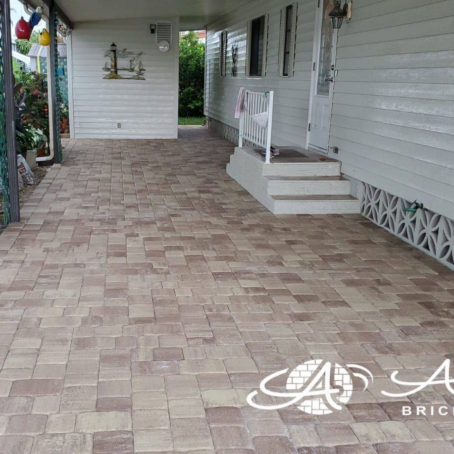 driveway pavers cappuccino tremron olde towne