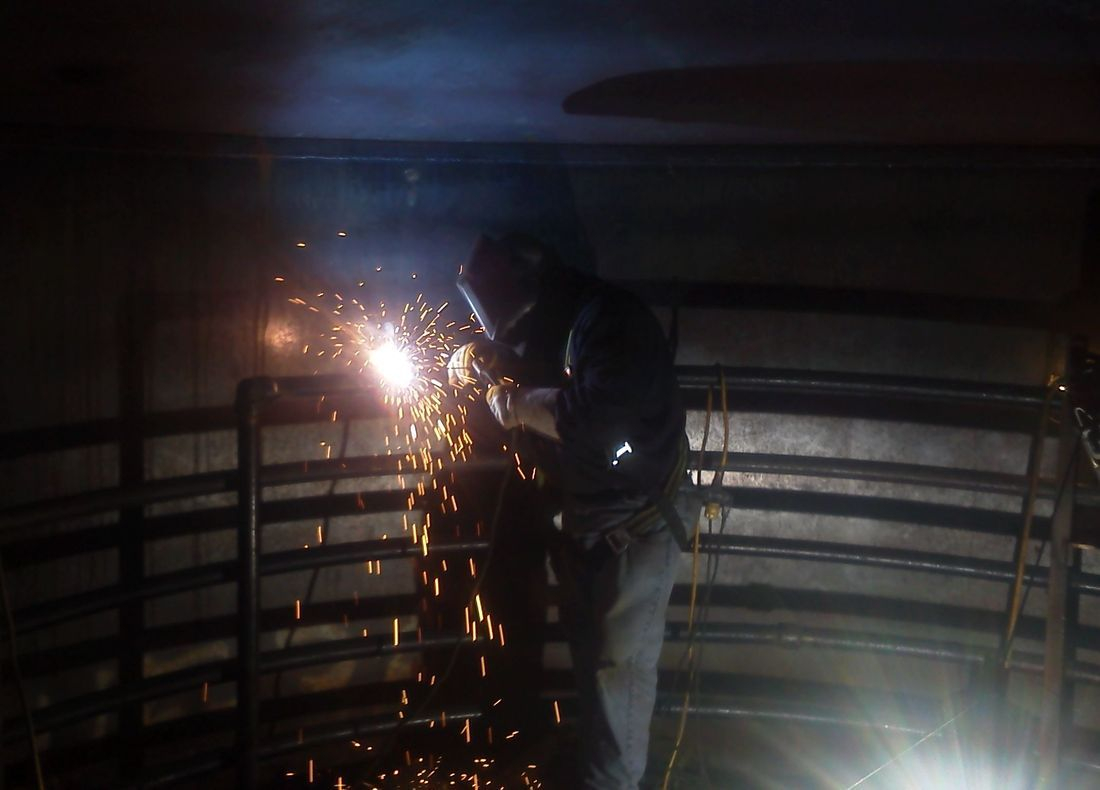 API Steel storage tank piping: Welded steel storage tank product piping.