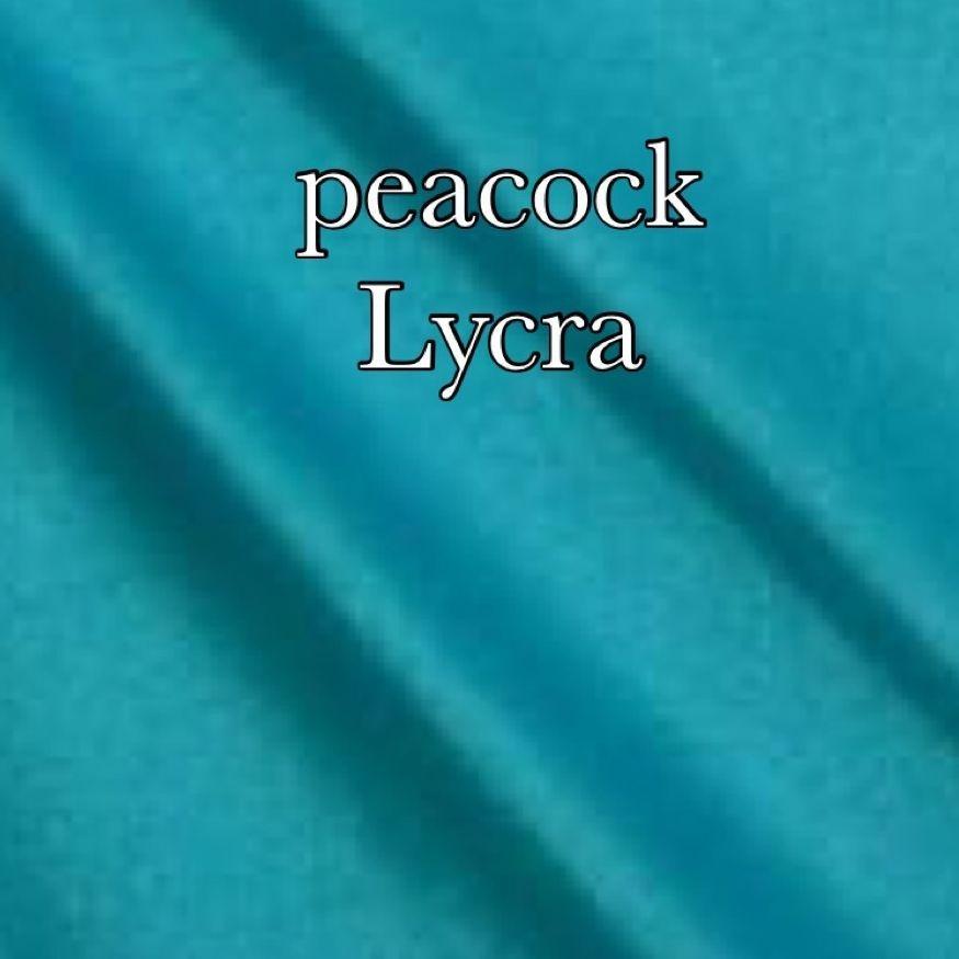 Peacock lycra