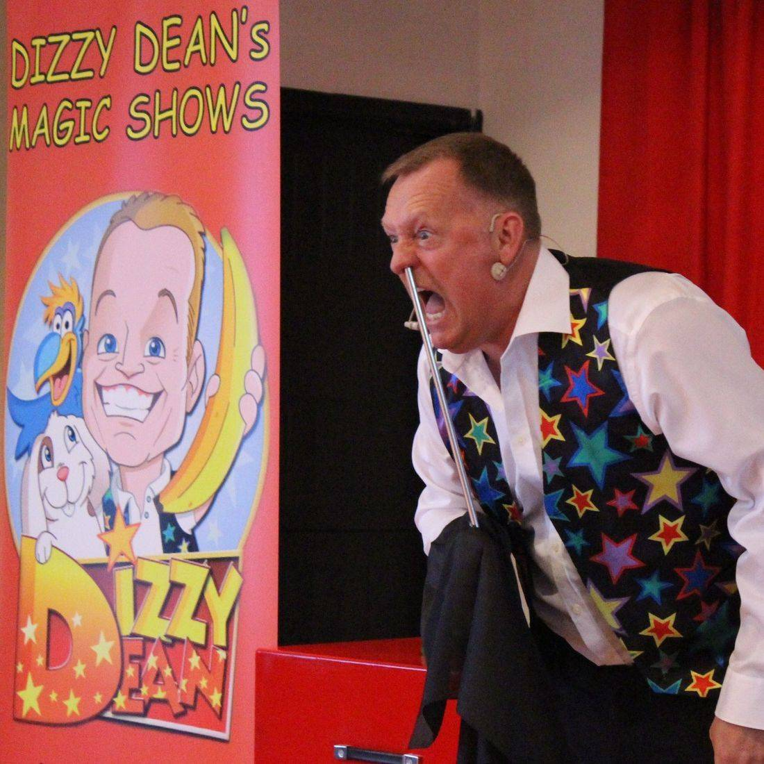 Comedy Magic shows for children with Dizzy Deans Magic