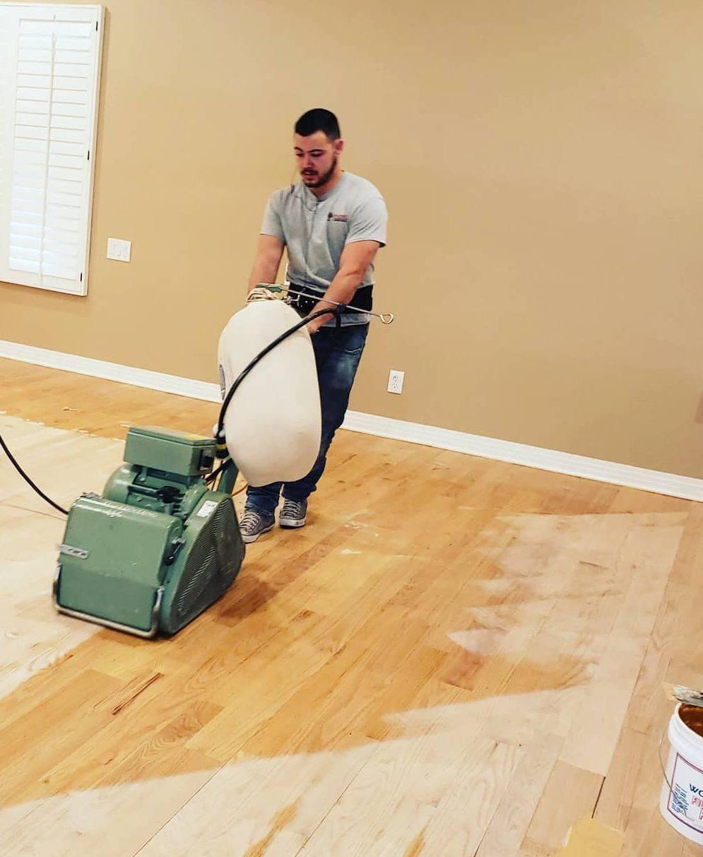 Sand and finish hardwood floor