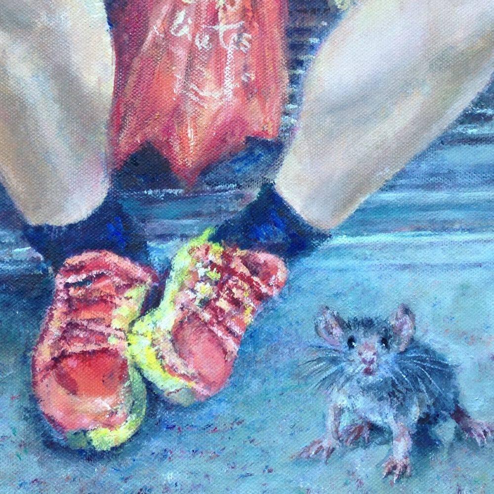 Mouse on the. oil bytrain Marcia Kuperberg