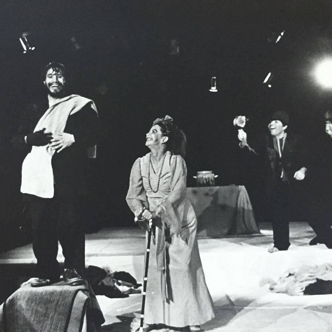 La orgía  by Enrique Buenaventura, directed by Gustavo Gac-Artigas, actors: Freddy Rojas, Perla Valencia, Jaime Ptrat Corona and Gustavo Gac-Artigas