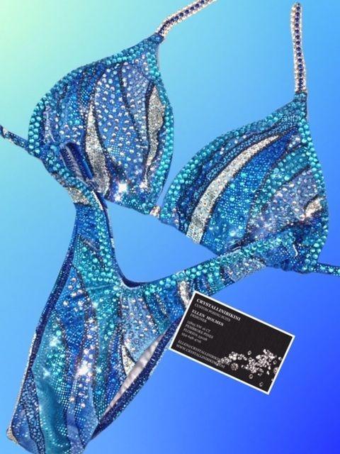 blue figure suit