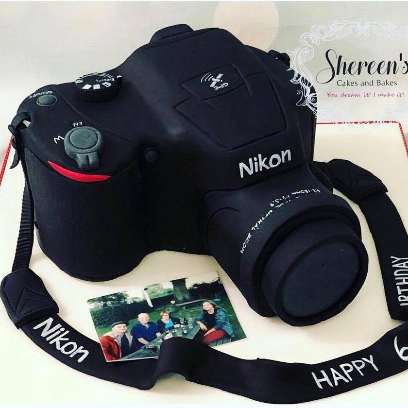 Birthday Cake Novelty Nikon Camera Digital