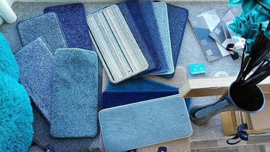 Blue Carpets and Laminate