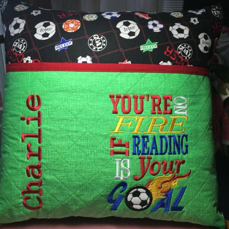 Custom Soccer Reading Pillow