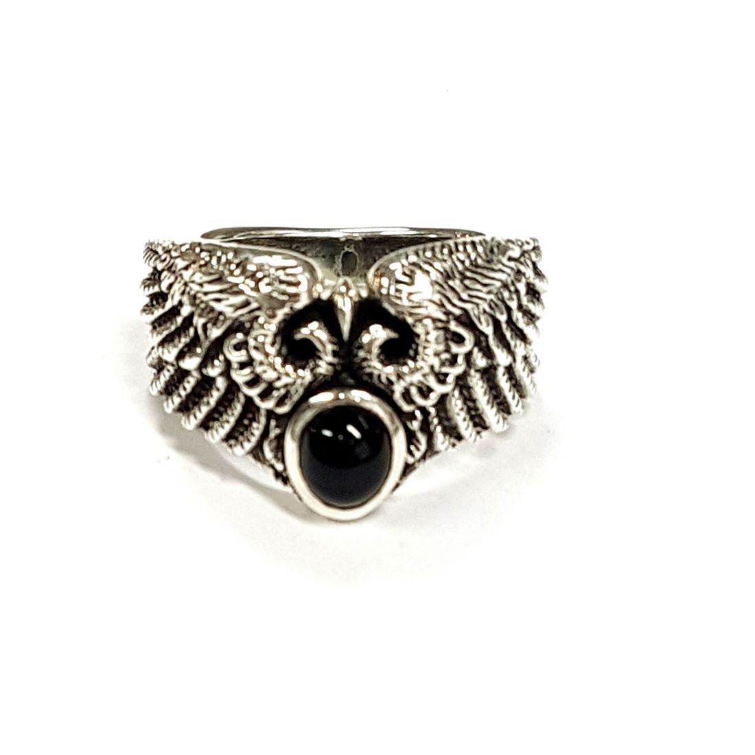 Jet Stone Angel Wings Ring  available at Kazbah online and our Leicester City Centre shop
