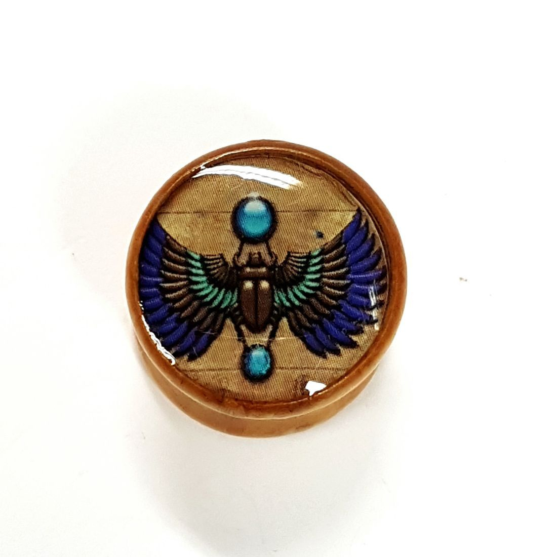 16mm Winged Beatle Palm Wood Plug