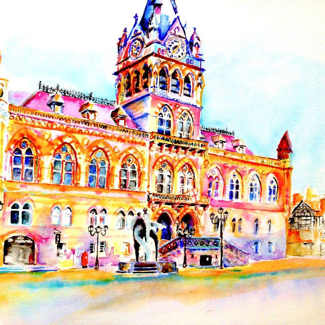 Town Hall in Chester, Cheshire by Mary Saifelden