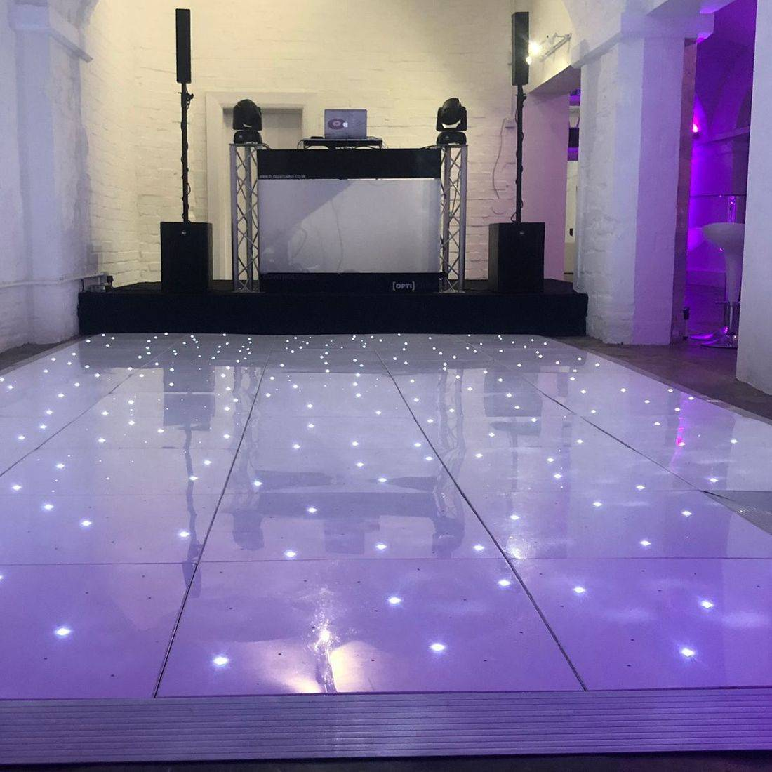 Ragley Hall Wedding DJ Warickshire led dancefloor