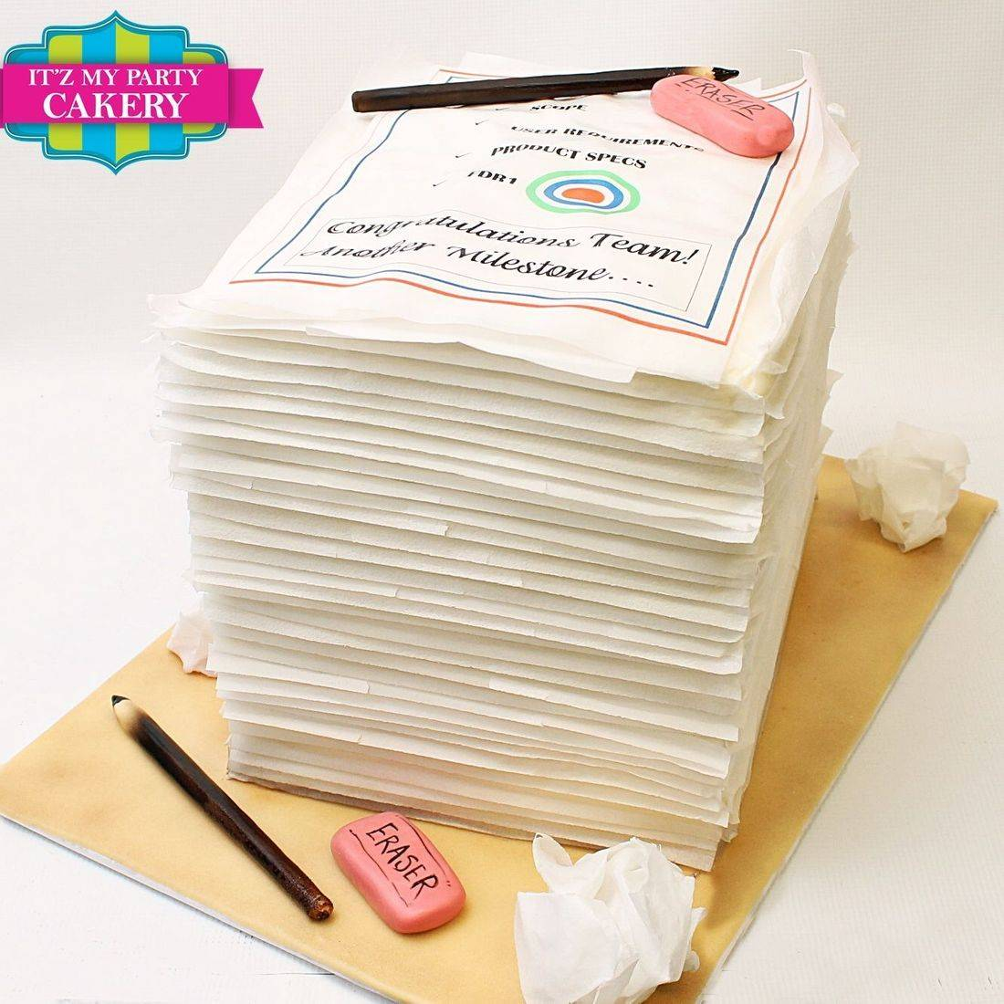 Paper Stack Cake Carved Dimensional Cake Milwaukee