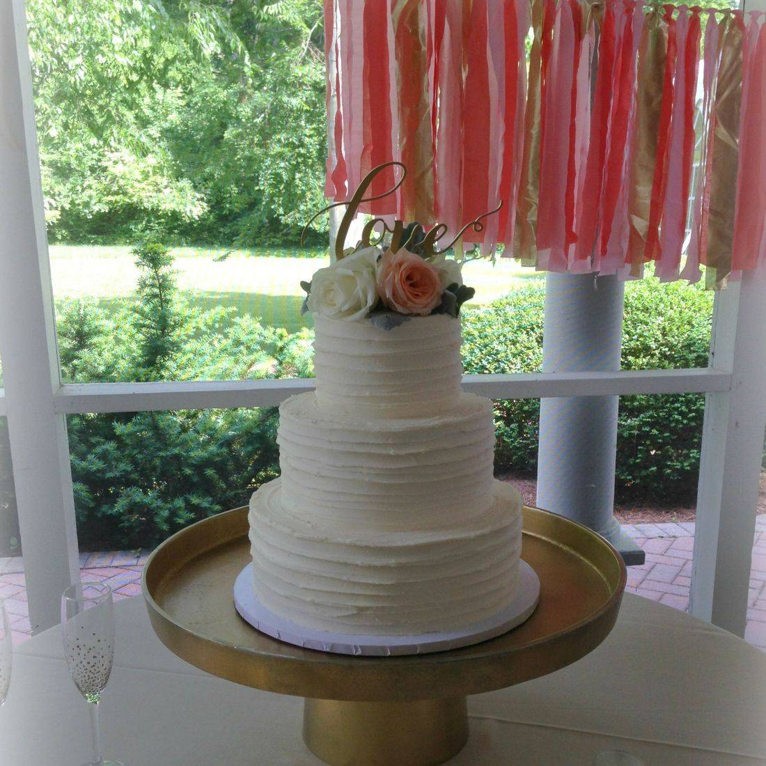 Buttercream Wedding Cake rustic country southern Chic