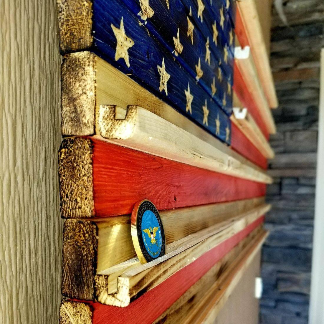 EMS wooden flag