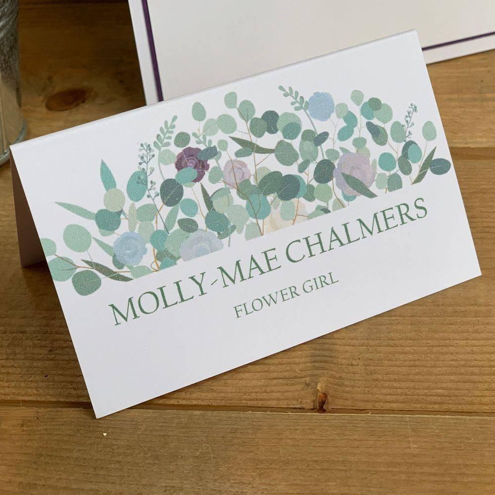 Lilac, Cornflower Blue, Eucalyptus Place Names