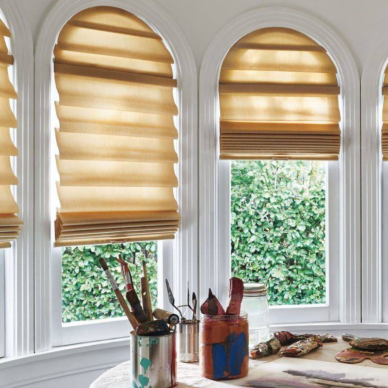 Vignette Modern Roman Shades Specialty Shape