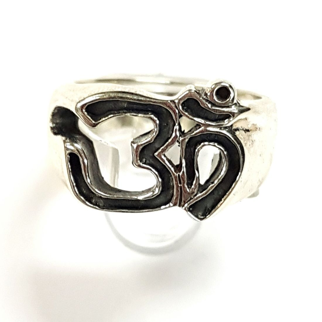 Silver Om Ring  available at Kazbah online and our Leicester City Centre shop