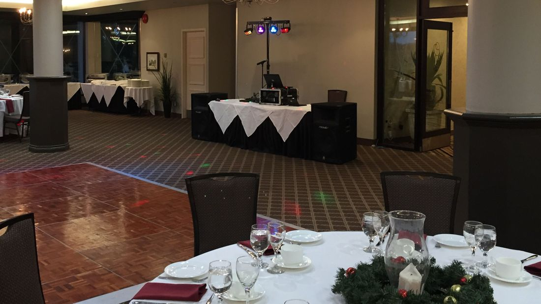 DJ at a Christmas Party