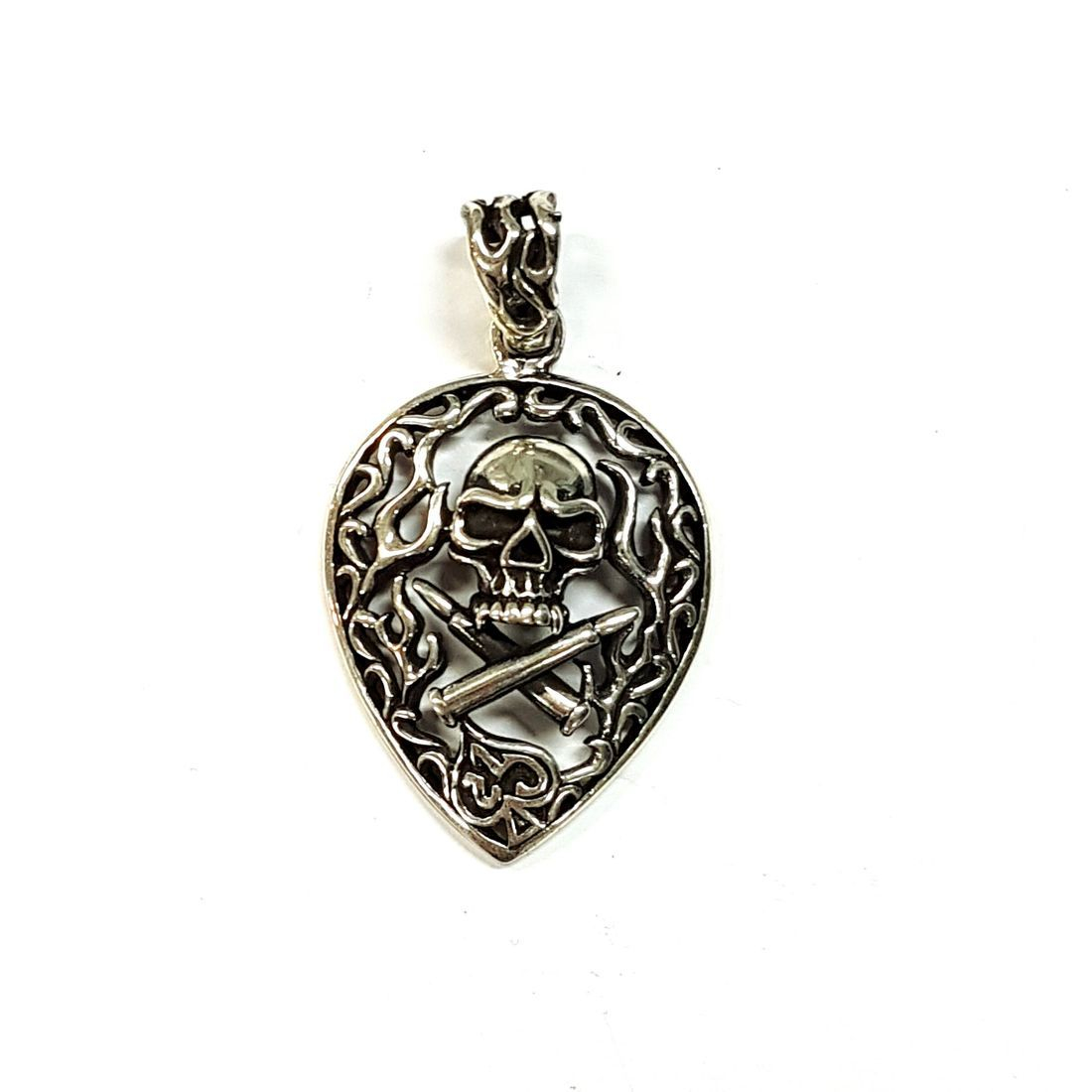 Skull & Cross Bones Pendant  available at Kazbah online and our Leicester City Centre shop