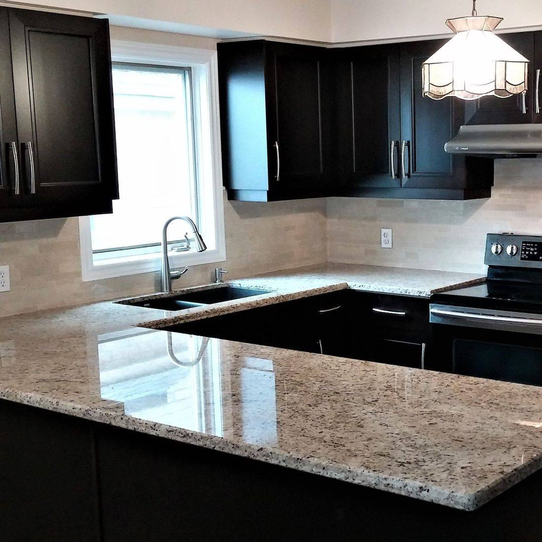 Sibra Kitchens Markham Toronto cambria quartz espresso maple cabinets