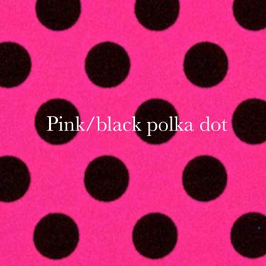 pink/black polka dot spandex