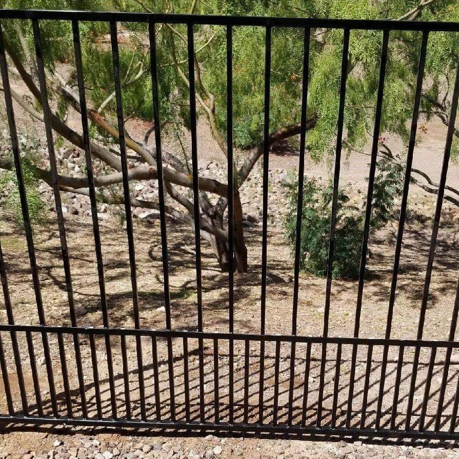 reclaimed brn wood gate divine metal works az