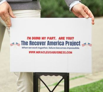 Recover America Project Yard Sign