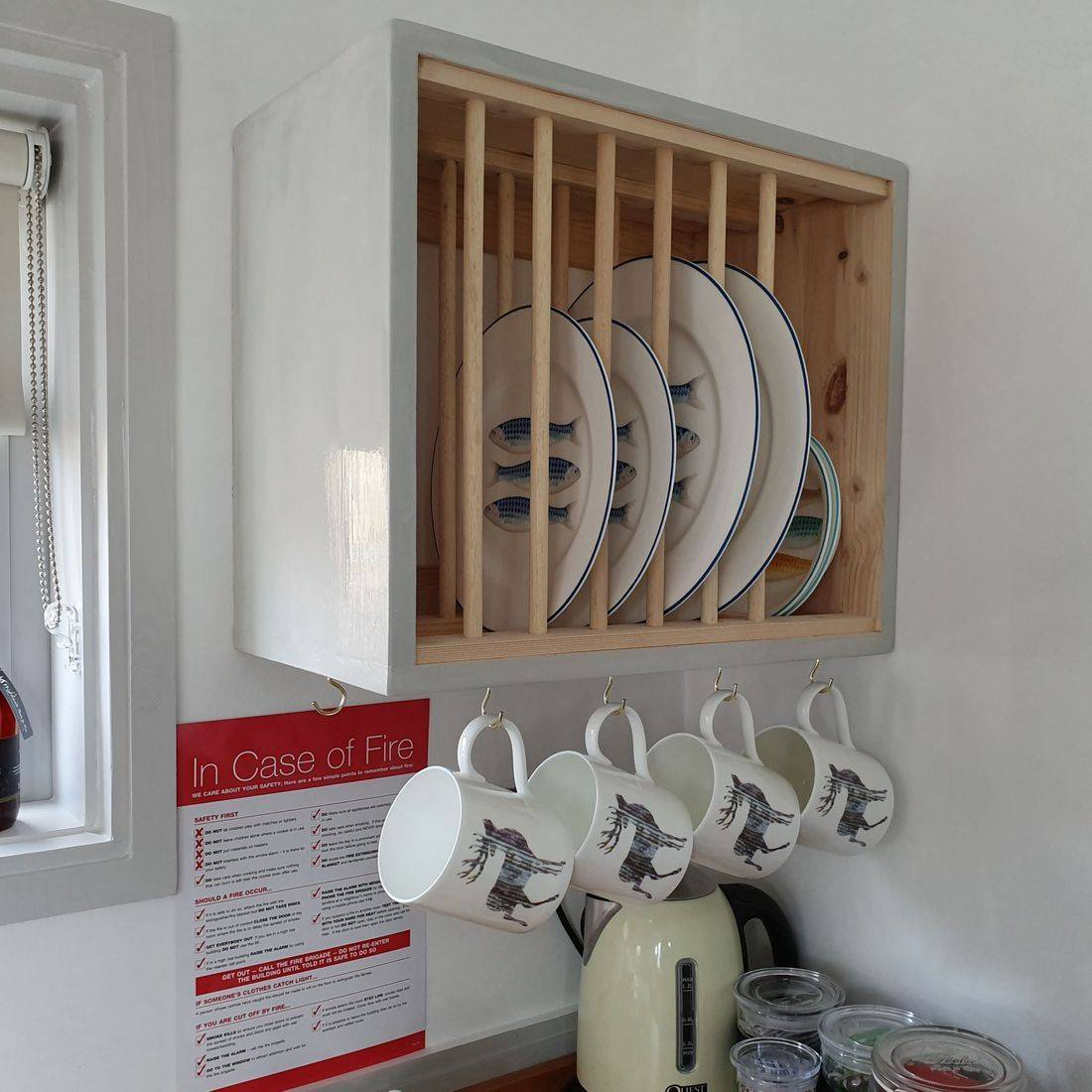 Quirky Plate Rack, space saving storage options