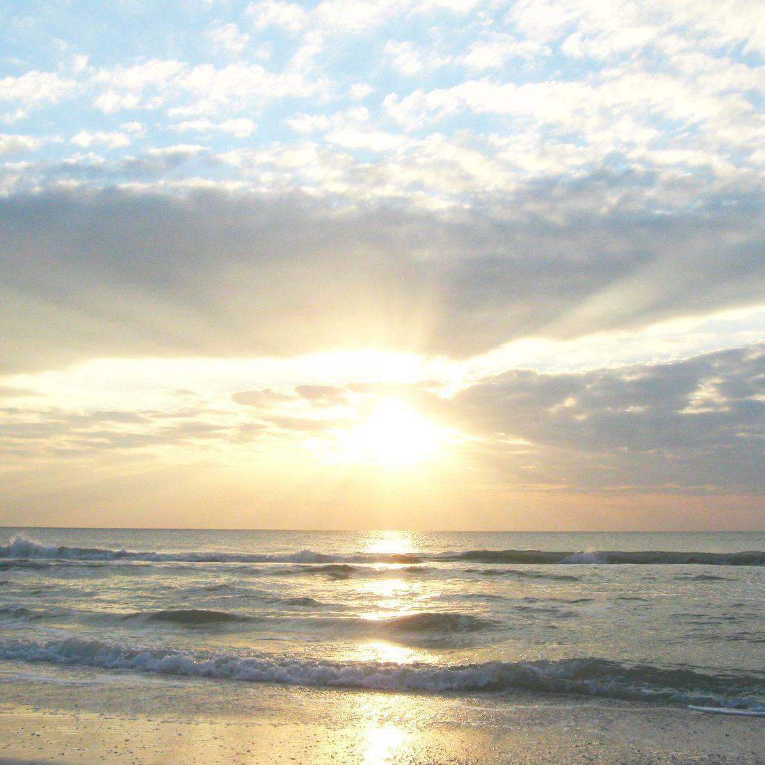 Water, Ocean, Sun, Sunset, Clouds, Sea, Beach, Waves, Anna Maria Island, Bradenton, Florida