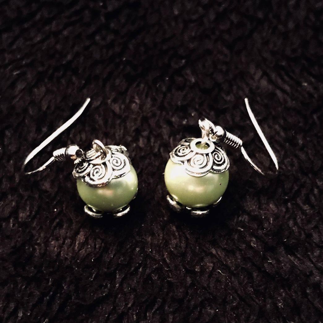 Sea Foam Pearl Earrings Jewelry