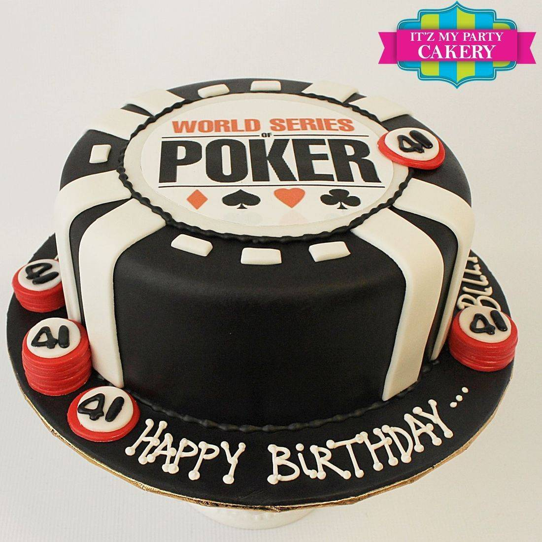 Custom Poker Chip Cake Milwaukee