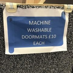 Machine washable doormats