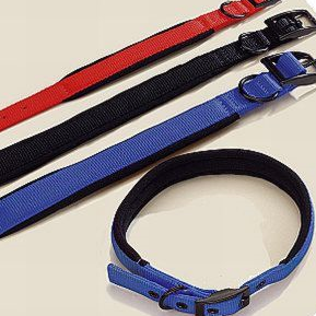 Herm Sprenger  Padded Neoprene Lined 19mm Nylon Dog Collars Black