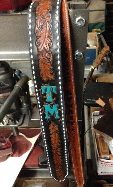 Guitar strap , custom guitar strap . monogrammed guitar straps