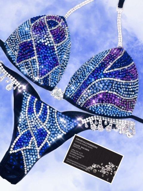 blue ribbon bikini
